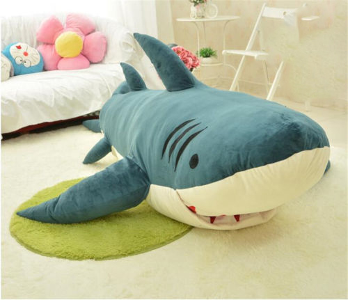 Giant Huge Shark Sleeping Bag Beanbag Sofa Bed Plush Stuffed Soft Toys Gift In Animals From Hobbies On Aliexpress Alibaba