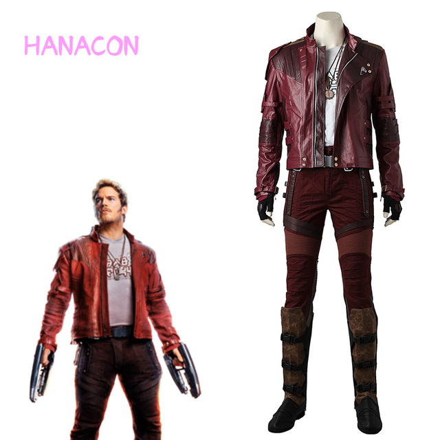 27d1296a5 Star Lord Costume Cosplay Peter Jason Quill Adult Guardians of the Galaxy  Vol 2 Halloween Jacket Full Set Outfit Party Cos Men