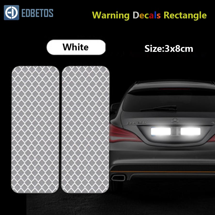 Image 3 - Reflective Car Sticker Rectangle Diamond Tape Safety Warning Mark Decal Notice Bicycle Pegatinas Automovil Coche Araba Aksesuar-in Car Stickers from Automobiles & Motorcycles