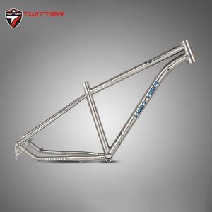 Image 5 - Twitter werner チタンフレーム mtb 自転車フレームスルーアクスル 12*142 ミリメートル 27.5er 29er 航空チタン合金 15.5 17 19 バイクフレーム