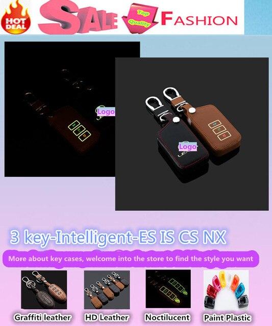 Высокое качество автомобиль стайлинг обложка детектор световой кожа ключи от машины сумка чехол брелок бумажник интеллектуальные / раза для ES CS NX