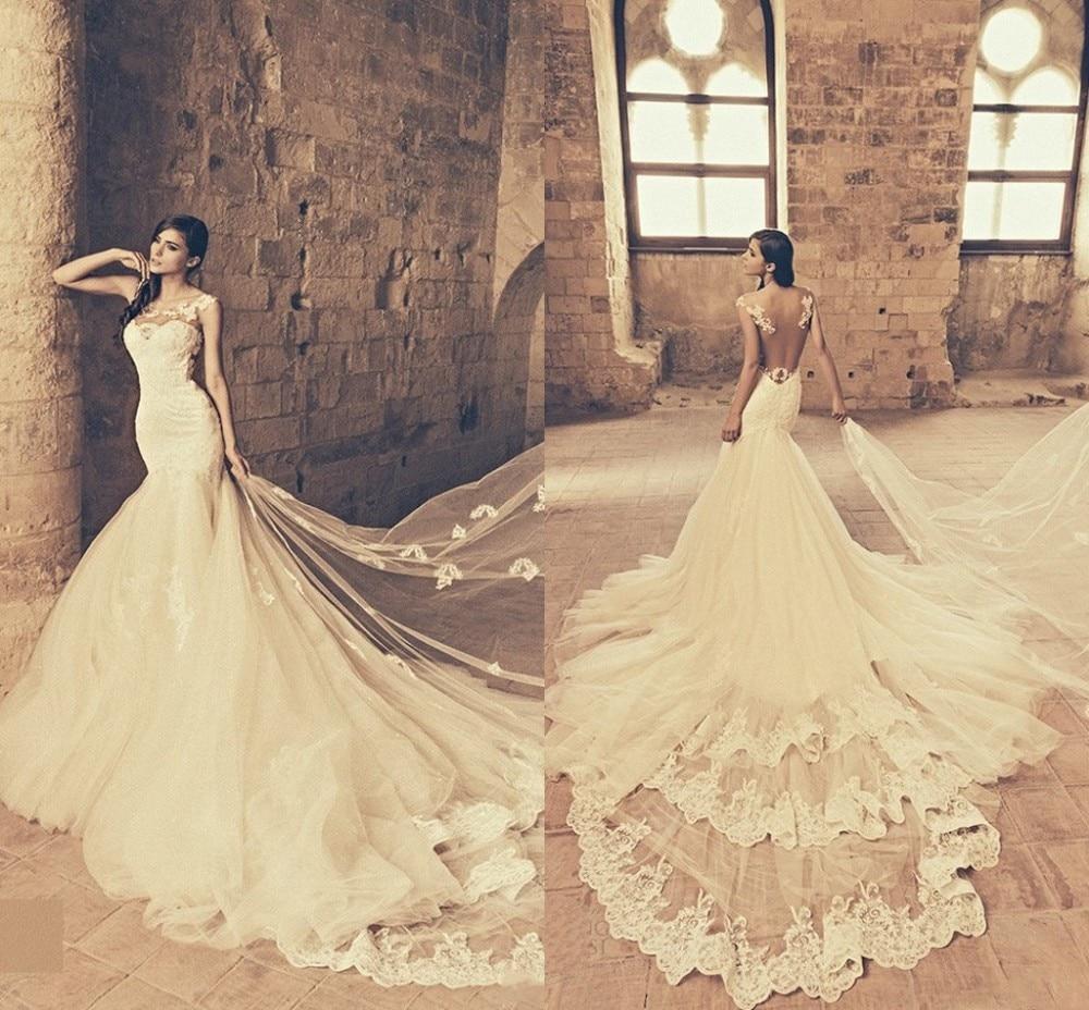 Yellow Vintage Lace Wedding Dresses