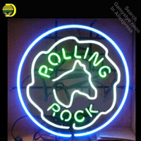 Neon Sign for Rolling Rock Latrobe neon bulb Sign Garage neon lights Sign glass Tube HandcraftIconic Sign Display illuminated