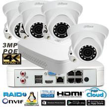 "3MP 1080P HD 1/3"" CMOS Sensor DAHUA IP Camera DH-IPC-HDW1320S camera kit  ONVIF H.265 CCTV CameraNVR4104-P-4k kit Free Shipping"