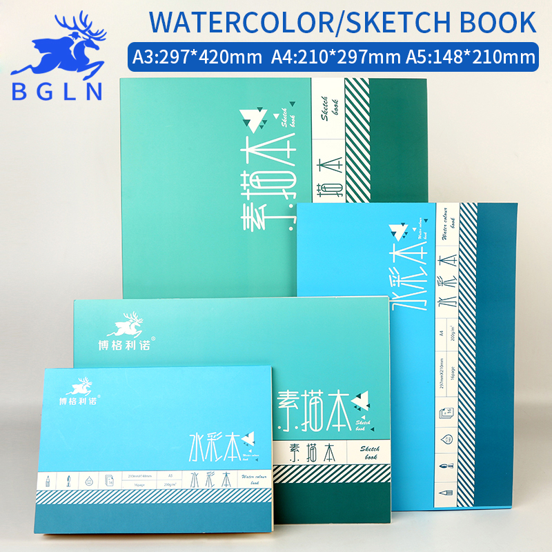 Bgln 1Piece Professional Watercolor Paper Hand Painted Water-soluble Book Creative Office For School Stationery Art SuppliesBgln 1Piece Professional Watercolor Paper Hand Painted Water-soluble Book Creative Office For School Stationery Art Supplies