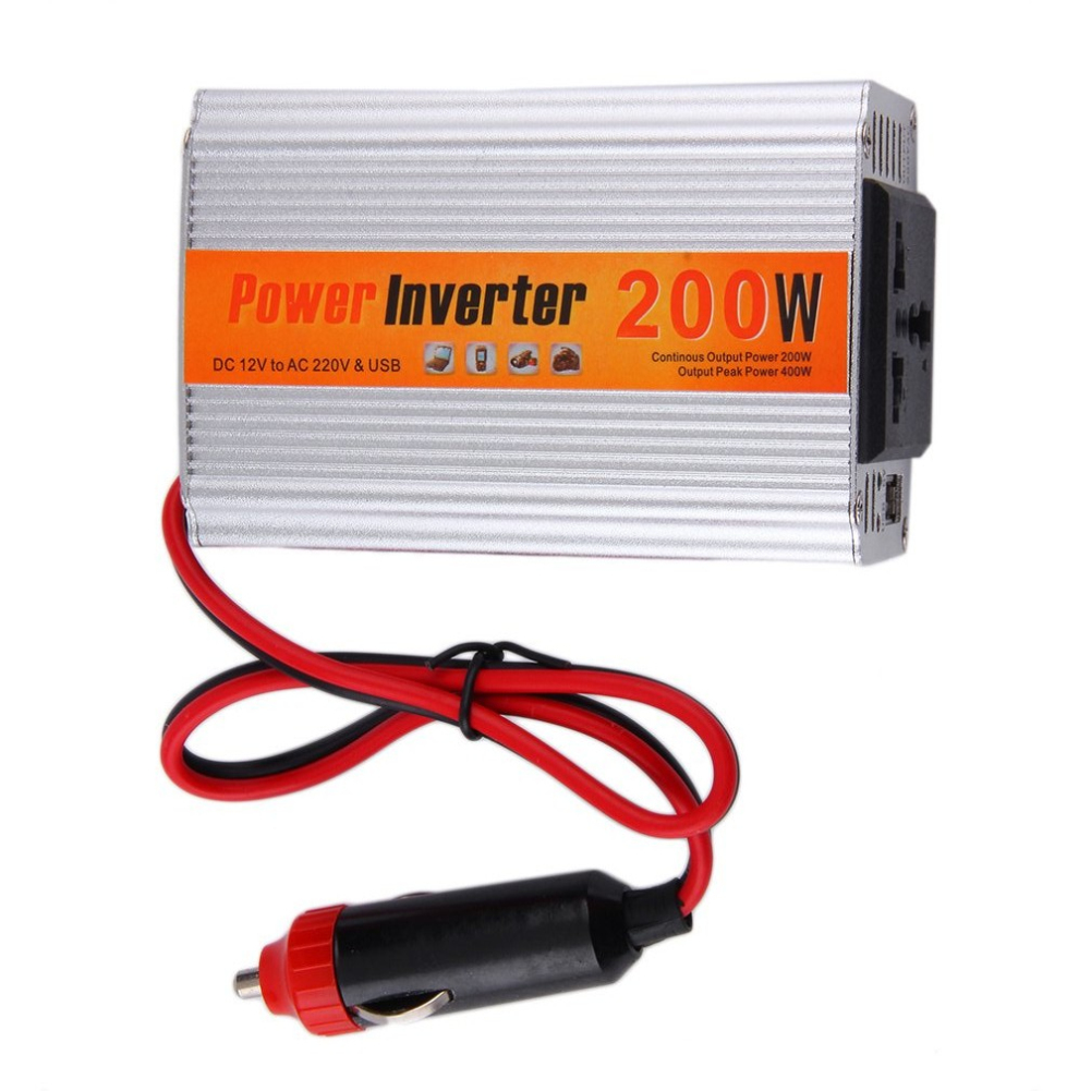 SODIAL 150W DC 12V a AC 220V Inversor de energia del coche con conector USB Transformadores de voltaje Inversores para Coche automoviles