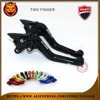 For DUCATI GT 1000 PAUL SMART LE S2R 1000 GT1000 black orange red motobike Motorcycle Adjustable Short Brake Clutch Levers