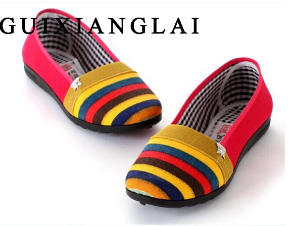2016 Spring Summer Flat Shoes Women Loafers Canvas Shoes Slip On Flats Casual Shoes Loafer For Women Sapato Feminino Size 35-40 spring summer women flat ol party shoes pointed toe slip on flats ladies loafer shoes comfortable single casual flats size 34 41