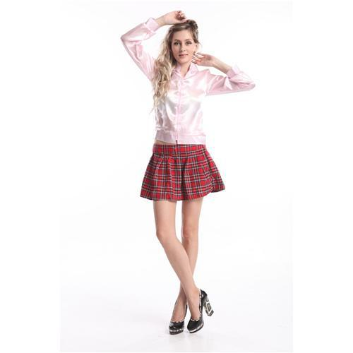 free shipping pink lady costume Grease Pink Ladies Satin Jacket Lady 50s Costume Frenchie Rizzo plus size s-6xl