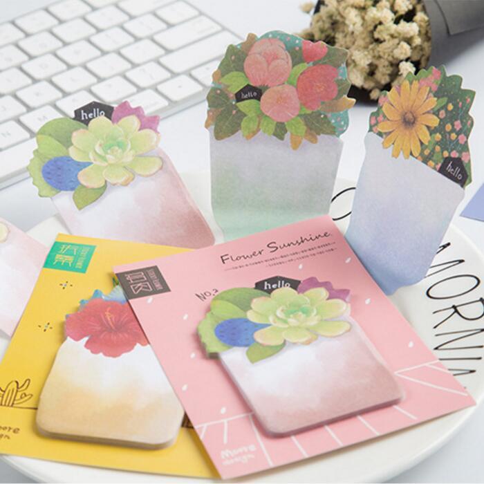 36pcs/Lot Garden Flower plant memo pad Succulent Daisy post notes Vintage planner sticker Stationery Office School supplies 7057