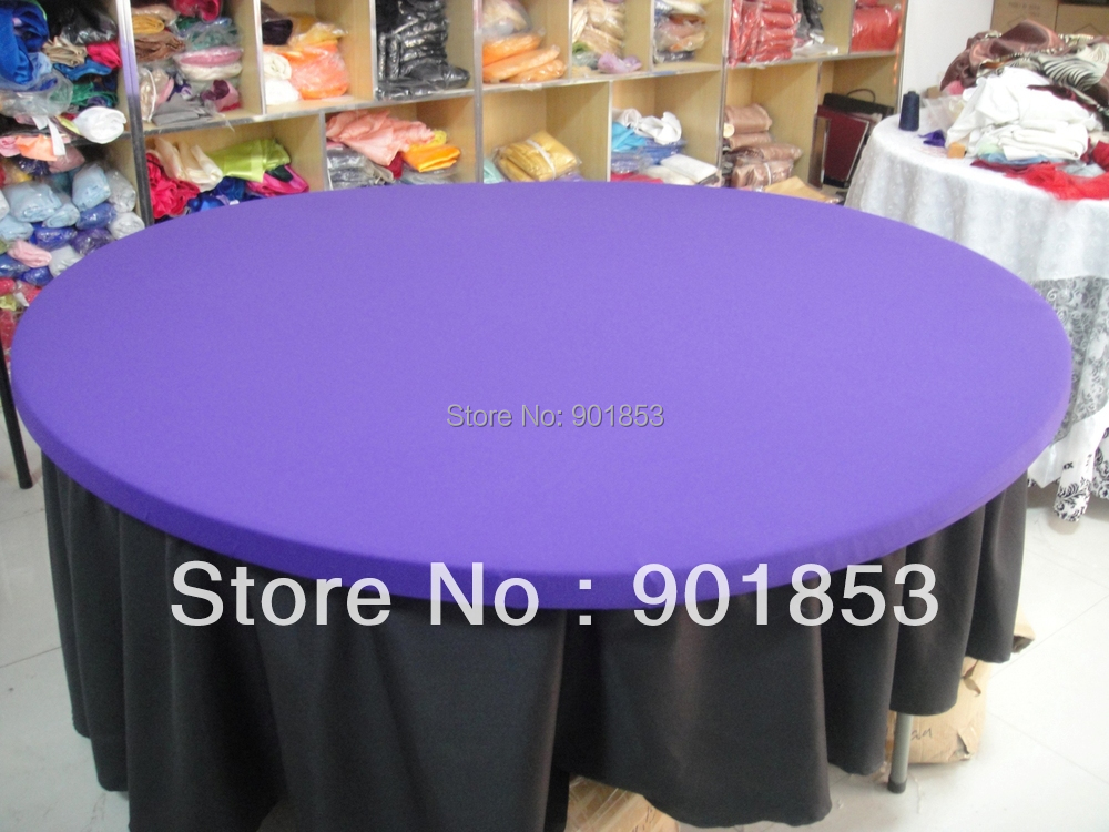 6ft Or 72inch Round Spandex Tablecloth Topper In