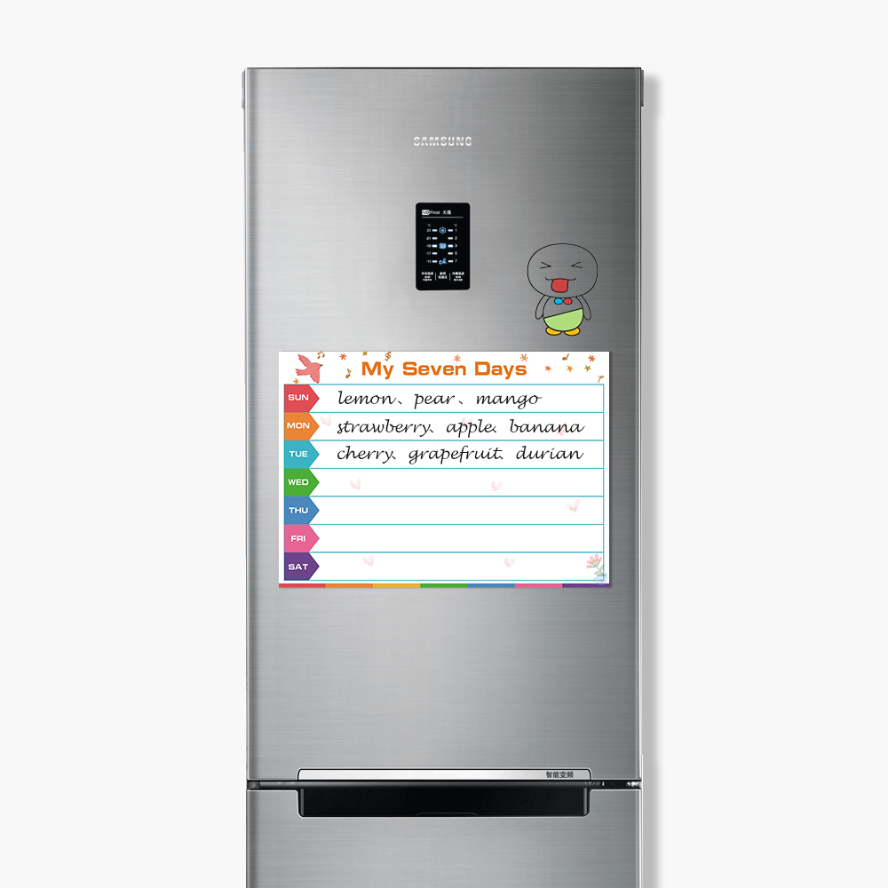 To Do List Dry Wipe Erasable Drawing Writing Fridge Stickers Message Board Magnets Kids Schedule Magnetic Chores Chart