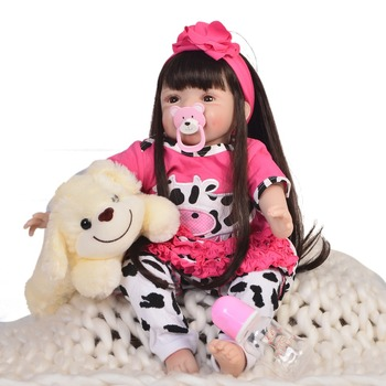 22inch So Lovely Reborn handmade 55cm stylish smiling Real Like Silicone lifelike Reborn Boneca Doll collection for sale toys