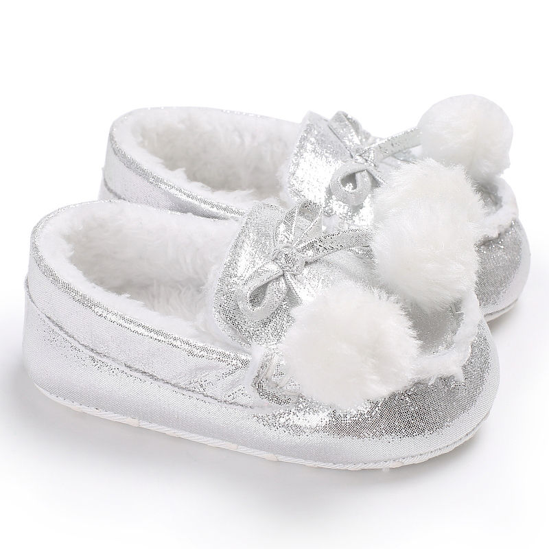 PU Leather Newborn Baby Moccasins Soft First Walkers Soft Soled Non-slip Crib Lace-up baby warm shoes