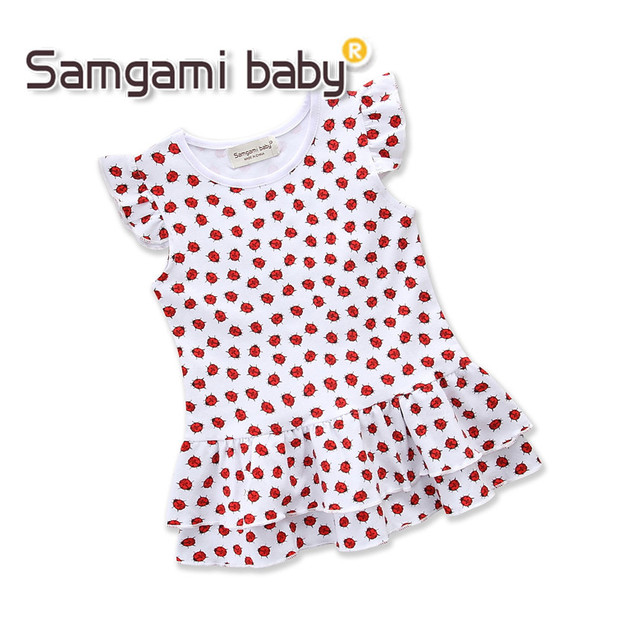 50b70d40607af SAMGAMI BABY Toddler Girls Summer Clothing Cute Animal Beetles Prints Cotton  Sleeveless Dresses Kids Outfits Girl Casual Dress
