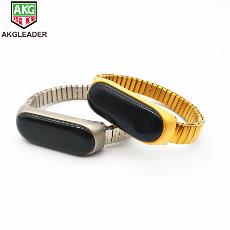 Newest Stainless Steel Elastic Watchband Strap For Xiaomi Band 3 4 Watch Band Watchbands Old Man