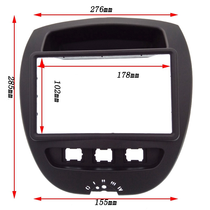 Image 5 - 2 Din Car DVD Facia for Toyota* Aygo* /Citroen* C1/Peug*eot 107 2005 2014 Fascia Dash Kit Radio Panel Stereo Cover Plate Trim-in Fascias from Automobiles & Motorcycles