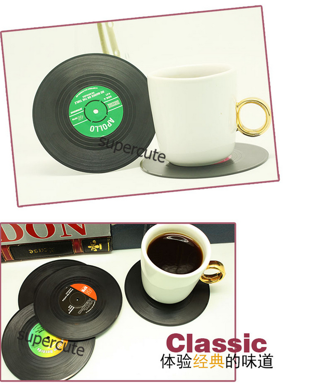 6PiecesSet Spinning Retro Vinyl Record Drinks Coasters  : 6Pieces Set Spinning Retro Vinyl Record Drinks Coasters Vinyl Coaster Cup Mat from www.aliexpress.com size 647 x 773 jpeg 357kB