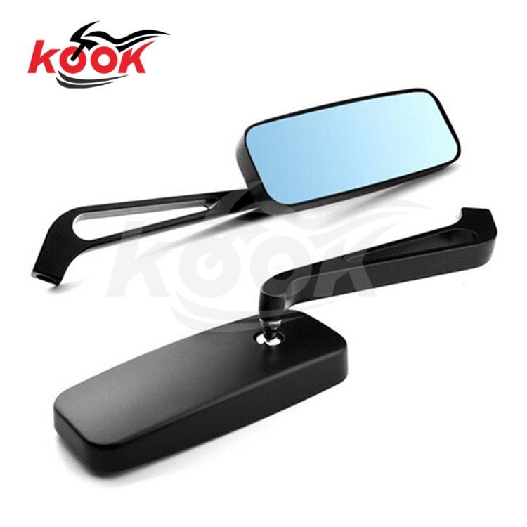 rectangle black glare prevention blue mirror scooter moto rearview mirror for honda suzuki yamaha harley motorcycle side mirror