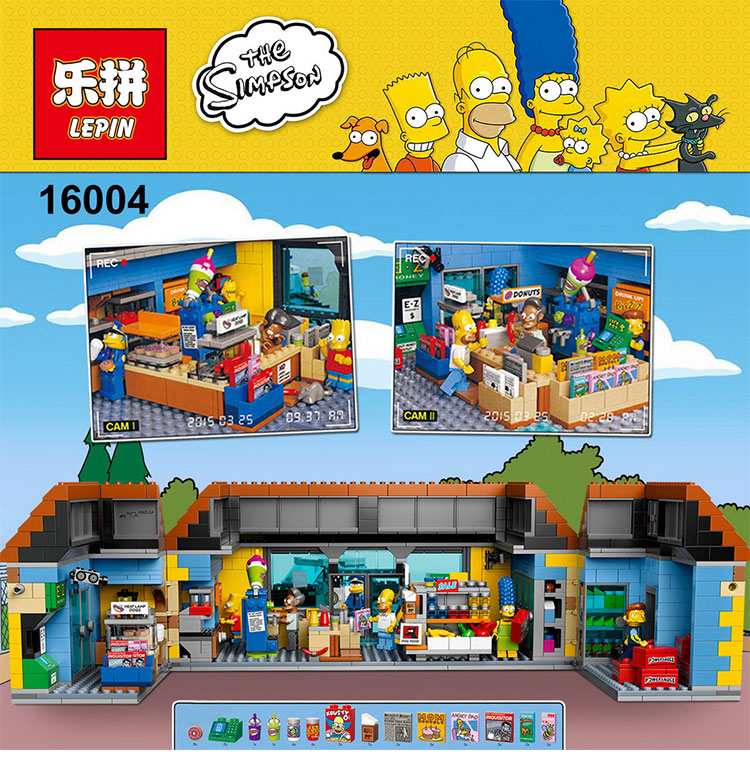 On stock New font b Lepin b font 16004 The Simpsons Bart Homer Minifigure Action Figures