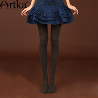 Artka Women S 2016 Spring New Breathable Solid Color Leggings Slim Fit All Match Elastic Comfy