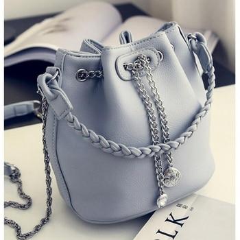 Women's PU Leather Bucket Bag  1