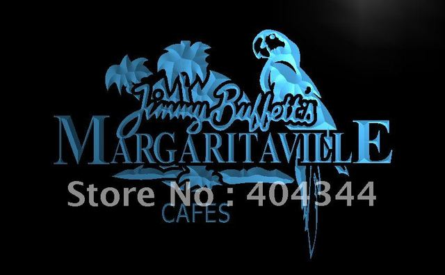 Le110 Jimmy Buffett Margaritaville Led Neon Light Sign Home Decor Crafts