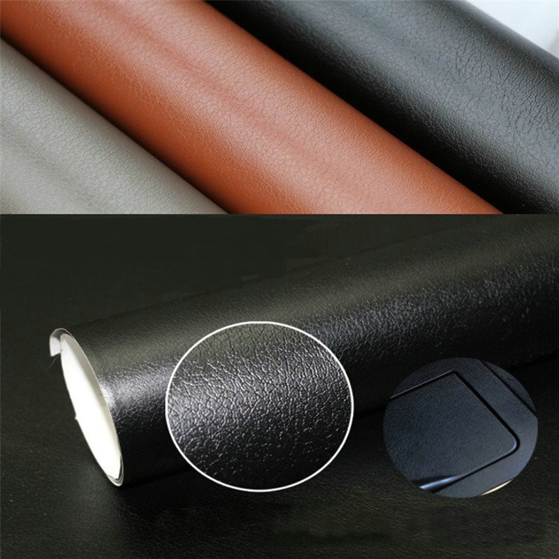 50 152cm leather pattern pvc adhesive vinyl film stickers car decoration carbon fiber film vinyl. Black Bedroom Furniture Sets. Home Design Ideas