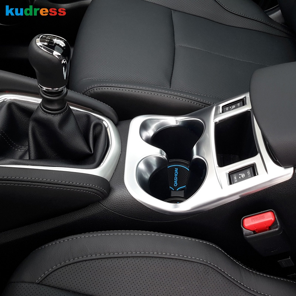 Aliexpress com buy for nissan qashqai 2015 2016 2017 car cup holder decorative frame automobile abs chromed matte interior water bottle placement from