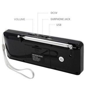 Image 4 - Lefon Digital FM Radio Receiver Speaker Stereo MP3 Player Support TF Card USB Drive LED Display Time Shutdown Portable Radios