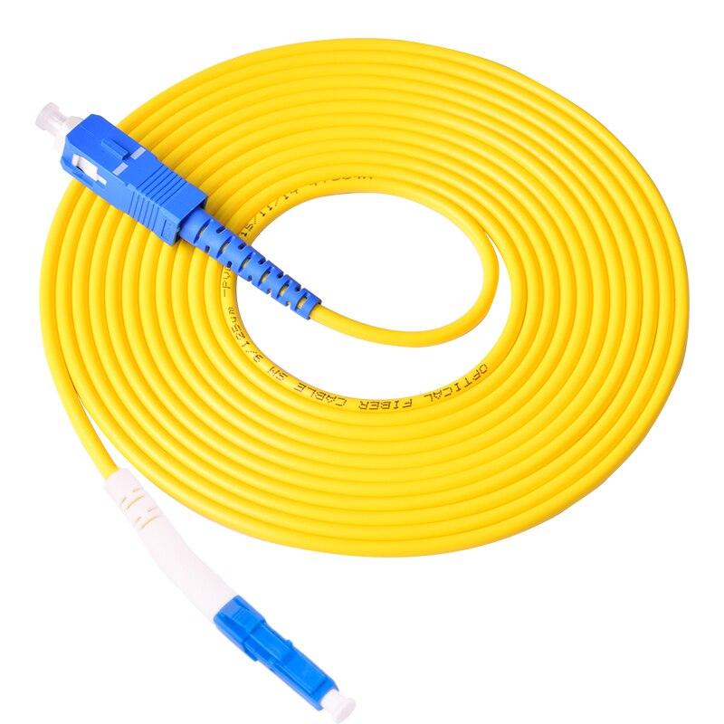 50 pièces fibre optique cordon de raccordement monomode simplex SC LC câble de raccordement optique sm sx 1 3 5 10 20 mètres Ftth livraison gratuite