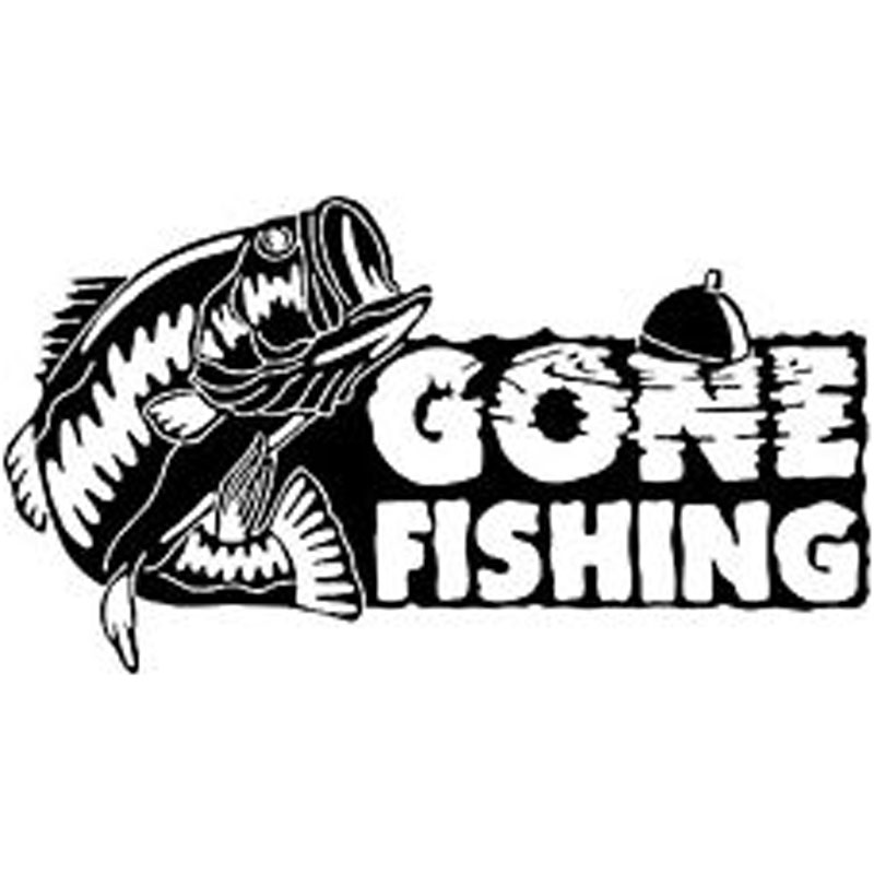 16cm 9cm gone fishing bass fish car boat truck vinyl decal for Fishing stickers for trucks