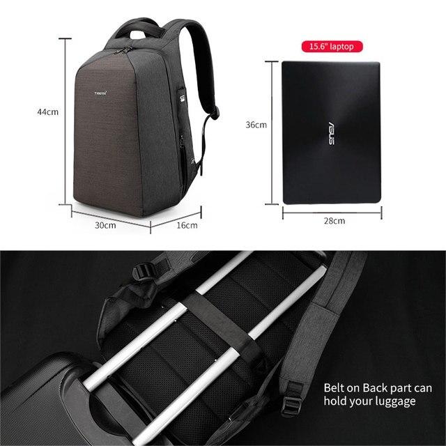 Tigernu Men Fashion 15.6 inch Anti theft Waterproof Business Laptop Backpacks Casual Male School Backpacks GrilsSchoolbag 3