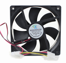 12025 high volume 4Pin connector dc motor exhaust fan 120x120x25 все цены