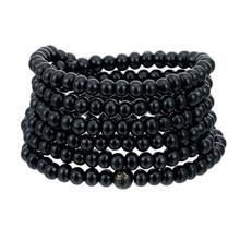 Hot Sale 6mm Prayer 216 Beads Bracelet Natural Sandalwood Bu