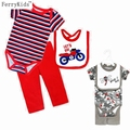 Cotton Newborn Infant Clothing Set Baby Clothes Boys Sets Bodysuit + Trousers + Bibs Baby Girl Clothing Sets Jumpsuit 2016