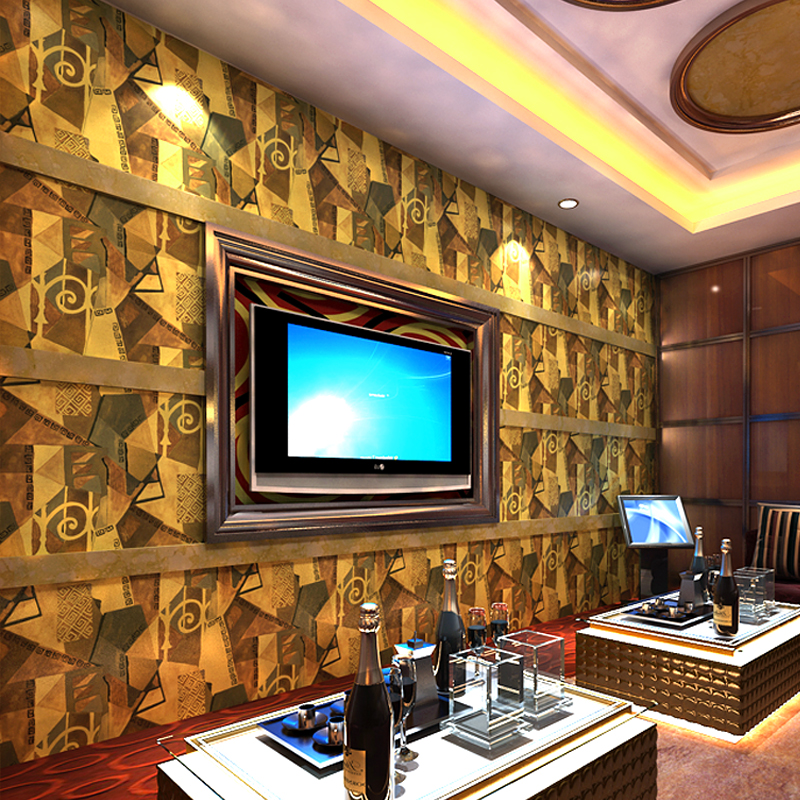 PAYSOTA KTV Wallpaper 3 D Personality Fashion Retro Bar Fancy Ballroom Box Background Theme Room Wall Paper Roll In Wallpapers From Home Improvement On