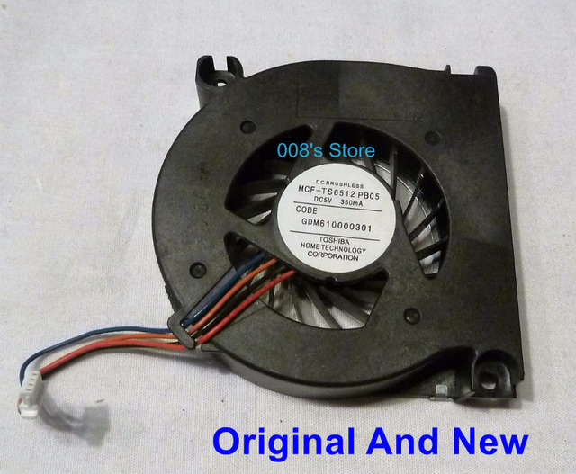 Original Laptop CPU Cooling Fan For Toshiba M400 M700 M9 S300 G40 R20 DC BRUSHLESS MCF-TS6512PB05 DC5V 350mA CODE GDM610000301