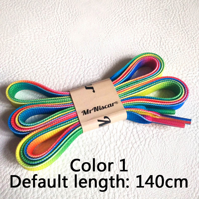 US $1.18 15% OFF|100 cm Flache Breite Seidenband Schnürsenkel Farbverlauf Schnürsenkel Schuh Sneaker Sportschuhe Spitze 1 Para in Schnürsenkel aus