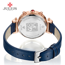 Real Functions Women's Watch Swiss Quartz Hours Clock Fine Fashion Dress Bracelet Sport Leather Birthday Girl Gift Julius Box