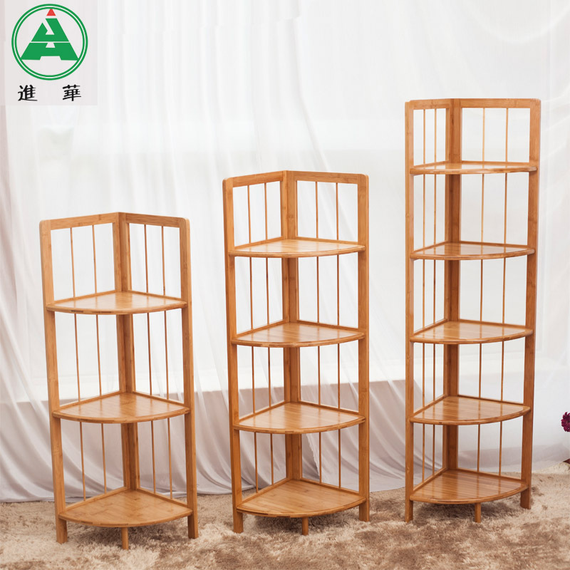 jin hua bambou tag re d 39 angle tag re d 39 angle de bains tag re armoire coin tag res tag re d. Black Bedroom Furniture Sets. Home Design Ideas