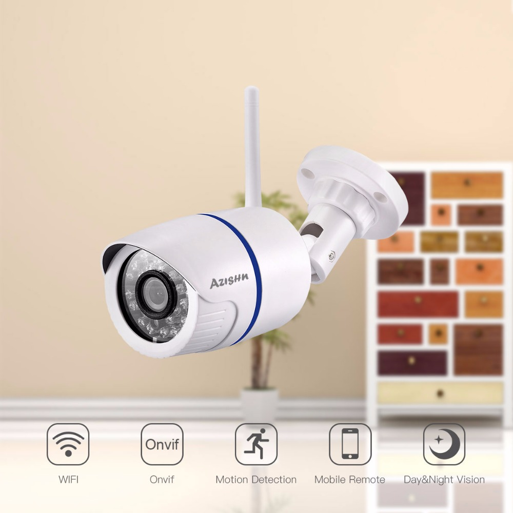 ①AZISHN WIFI IP Camera 720P 960P 1080P Outdoor Waterproof