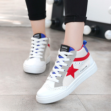 White Shoes Student Girl Comfortable Trend Womens 2019 Ladies Fashion Stars Spring and Autumn  Woman
