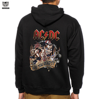 Rocksir AC DC Are You Ready Rock Style Men Hoodies 3D Printing Black Men Sweatshirt New