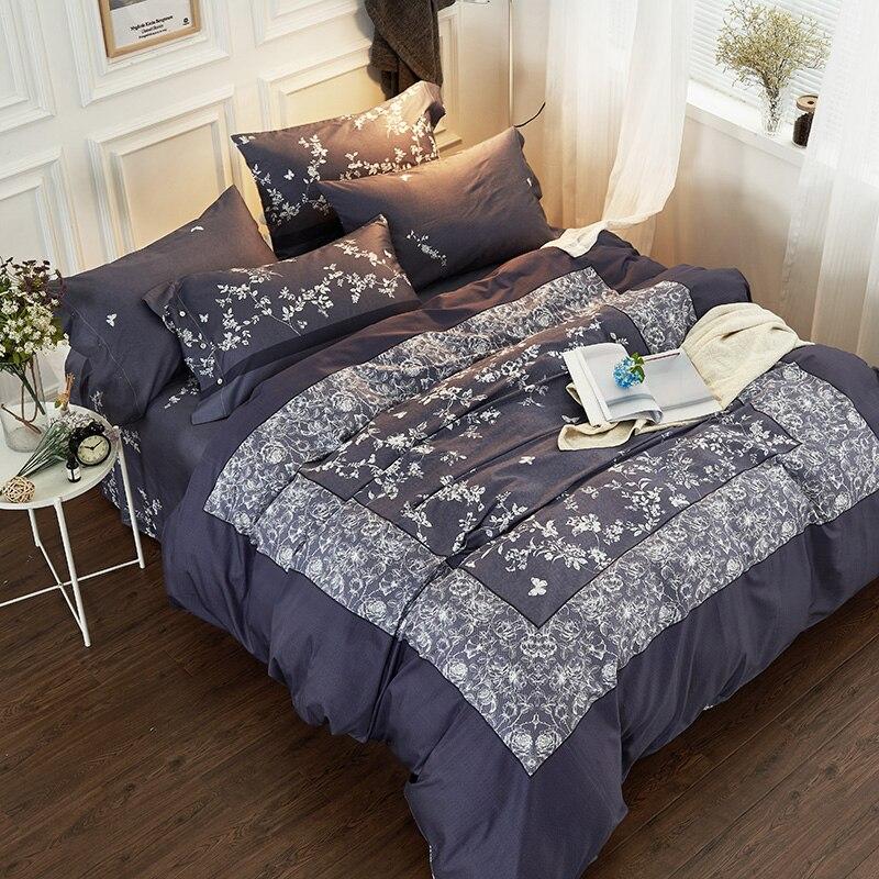 60S Egypt Cotton Boho Luxury Bedding Set 4Pcs King Queen Size blue Bed set Duvet Cover Bed Sheet60S Egypt Cotton Boho Luxury Bedding Set 4Pcs King Queen Size blue Bed set Duvet Cover Bed Sheet