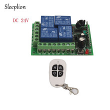 Sleeplion 24V 4 CH Channel Relay Wireless Remote Control Smart Switch Transmitter+Receiver 315MHz 433MHz