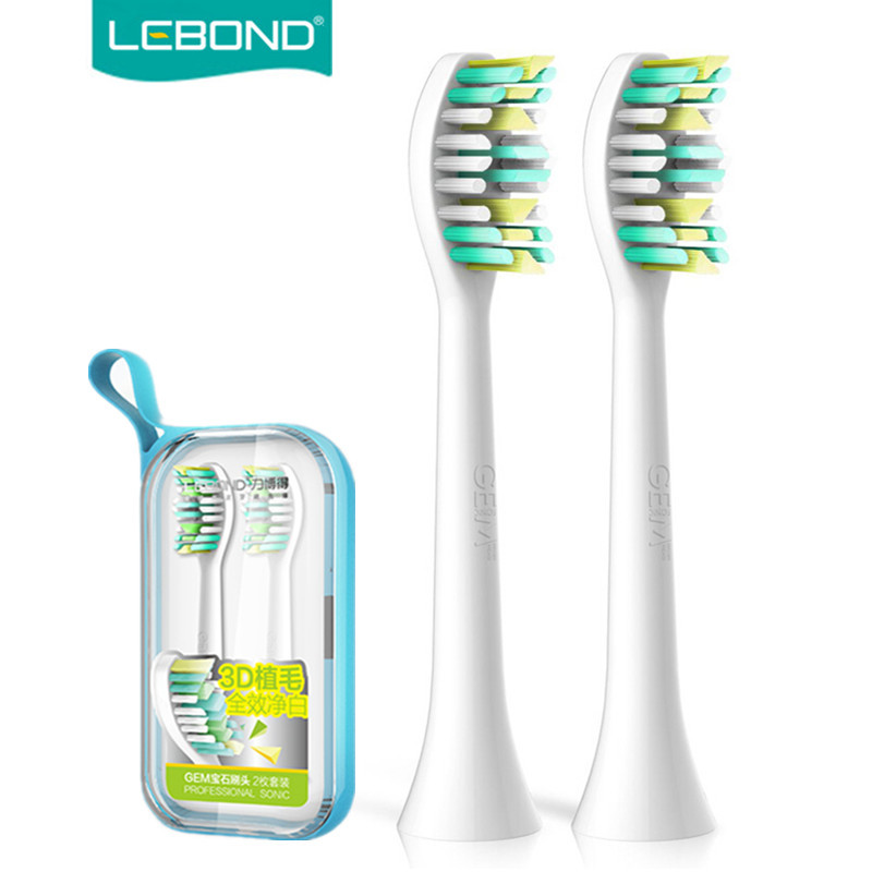 LEBOND Sonic Electric Toothbrush Heads GEM Series 2/4/8 Pcs For All LEBOND Adult Toothbrushes venicare replacement toothbrush heads for philips sonicare e series essence xtreme elite and advance 2 4 6 8pcs lot
