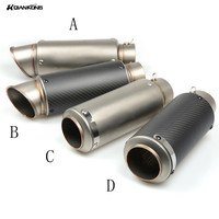 51 61MM Motorcycle Exhaust Pipe Scooter Modified 60mm SC Exhaust Muffler Pipe For Kawasaki ER6F ER6N
