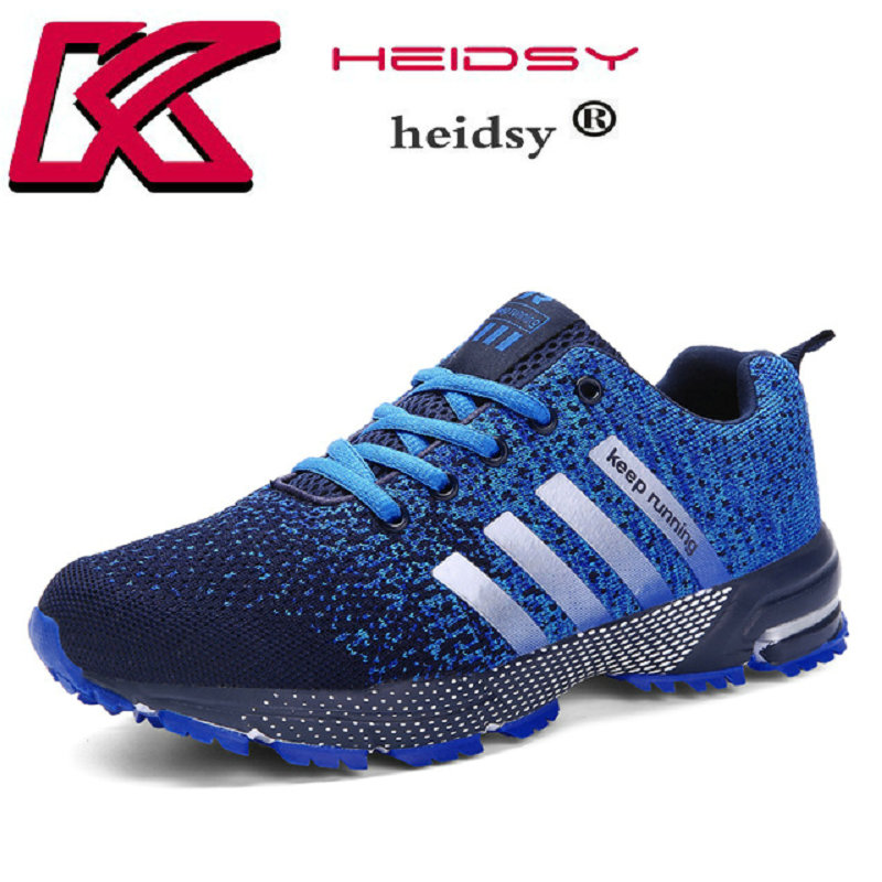 Plus Size 39-47 Running Shoes for Men Lace Up Athletic Shoes 2018 Outdoor Walking Jogging Shoes Men Air Mesh Breathable Sneakers lace up breathable mesh athletic shoes