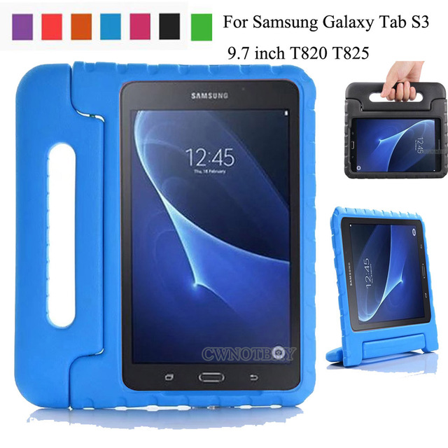 online store 9385c 373e5 US $12.41 28% OFF|For Samsung Galaxy Tab S3 9.7 inch T820 T825 Kids  Shockproof EVA Cover Portable Handle Stand Holder Case Full Body  Protection-in ...